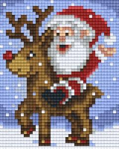 Père Noël Et Ses Rennes Noël Plaque Ids Pixelhobby